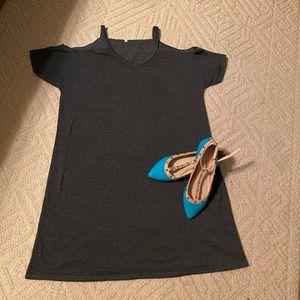 Shein Cold Shoulder T-Shirt Dress 🌸